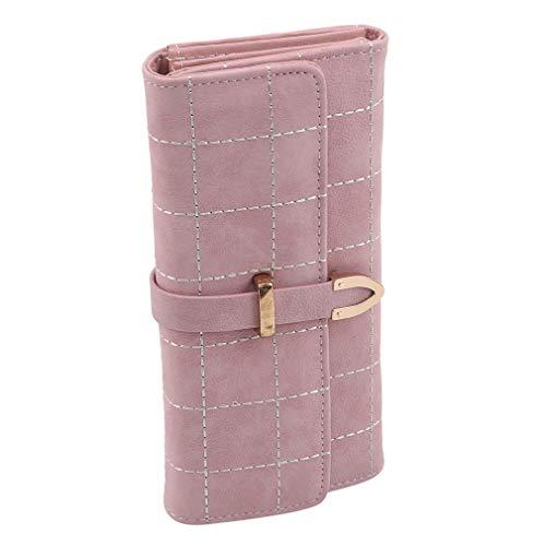 青空の日差し レディース財布 長財布 ロングウォレット 小銭入れ マットレザー PU 仕分け 大容量 多機能,薄ピンク