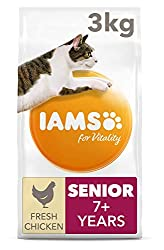 Senior cat food with 88 percent of animal protein to support seven signs of healthy vitality With added glucosamine to support healthy joints Antioxidant blend with Vitamin E to help support the immune system of your pet Crunchy kibbles and tailored ...