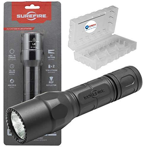 SureFire G2X LE Compact LED Flashlight 600 Lumen Tactical Light, Black Bundle with a Lightjunction Battery Box