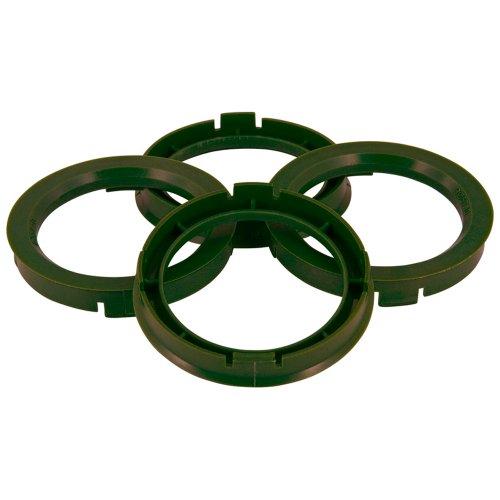 TPI BX7256510-4 Zentrierringe, 72,5 > 65,1 mm, 4 Stück, Grün (Olivgrün)