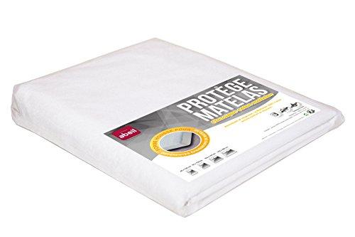Abeil Protège Matelas 100% Coton Absorbant 160x200 Coton Blanc 200 x 160 cm