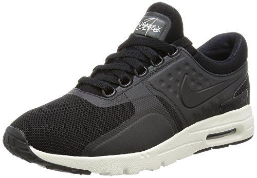 Nike Damen W air max Zero Laufschuhe, Black (Black (schwarz/schwarz-Segel), 39 EU