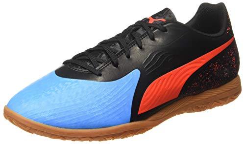Puma Herren ONE 19.4 IT Multisport Indoor Schuhe, Blau (Bleu Azur-Red Blast Black-Gum), 44 EU