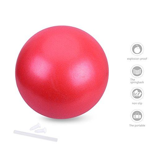 OZUAR 25cm Mini Palla da Ginnastica/Exercise Gym Ball per Yoga Pilates Fitness Core Cross Training Palestra ed Esercizio Fisico - Adatto per Uomini e Donne (Rosso Tenue)