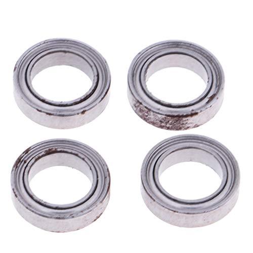 perfeclan Rodamientos de Metal 7x11x3mm (4PCS) para WLtoys 12428/12423/12628 RC Car Parts