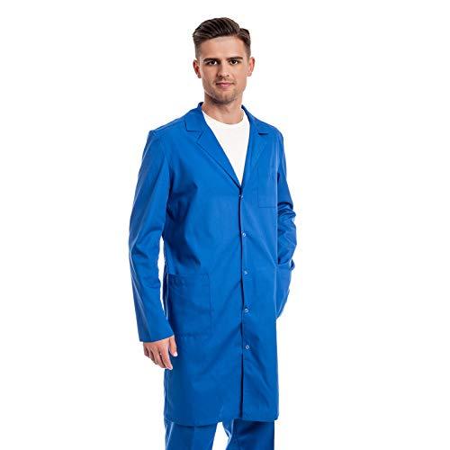 Arztkittel Blau Herren -7 Laborkittel Größe (XS -3XL) - Labormantel Perfekt Als Chemie, Kosmetik, Labor, Berufsbekleidung Kittel - Am Besten Für Ärzte, Arzthelferin. Krankenschwester.