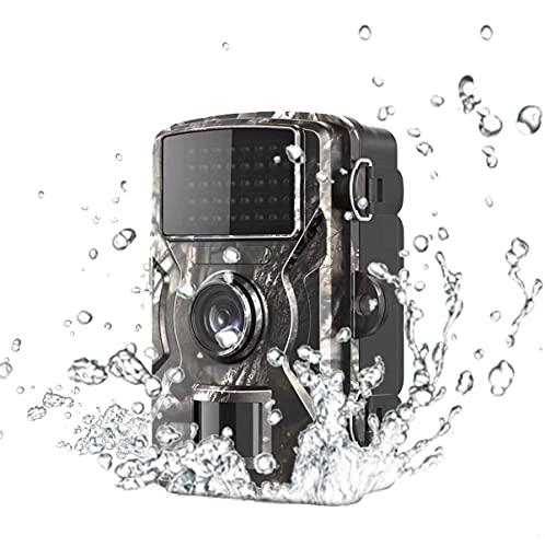 Kjzeex - Videocamera per selvaggina Wi-Fi, con sensore di movimento, visione notturna, 32 GB, 1080P, attivata con movimento attivato, impermeabile, grandangolo da 120°, telecamera di visione notturna