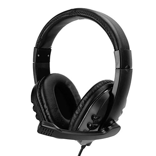 Hilitand Gaming Headset, 3.5mm Ergonomic Design Over-Ear Headphone with Microphone for Playstation 4(Black)