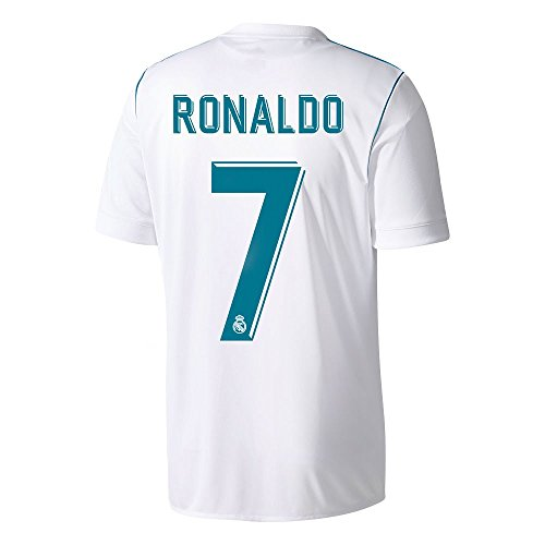 adidas Real Madrid Home Kids Ronaldo Jersey 2017/2018 (Official Printing) - XL / 176cm