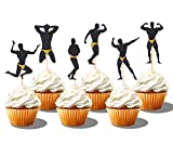 36 PCS Male Dancers Strippers Beefcake Cupcake Toppers,Bachelorette Cupcake Toppers Picks, Hen Party Decoration Supplies