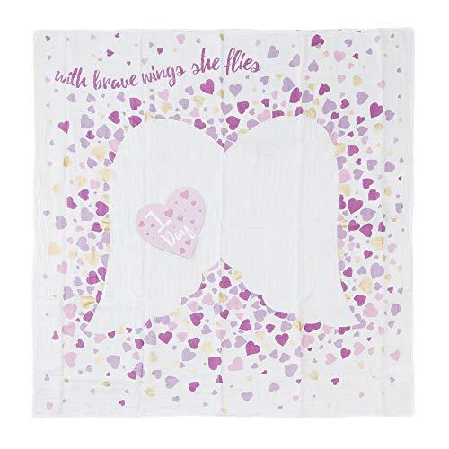 [ ルルジョ ] Lulujo おくるみ ベビー マイルストーンカードセット デラックス LJ584 Baby's First Year With Brave Wings ブランケット 寝相アート 月齢カード 出産 誕生日 [並行輸入品]