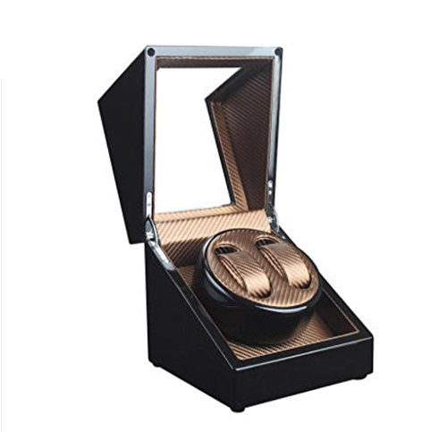 Good Shopping Caja Giratoria Relojes Watch Winder Auto Winder Winder Dual Watch Winders Almacenamiento Pantalla Watch Winder Case Automático Rotación Winders Caja de Reloj (Color : 2+0-nlack+Gold)