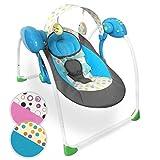 Tumbona para beb con arco  Plegable, 5 velocidades de oscilacin, cinturn de...