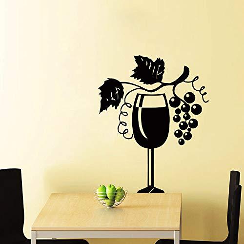 Abkbcw Etiqueta de la Pared Etiqueta de la Pared de la Cocina Etiqueta de la UVA del Vino Pegatinas de PVC Decoración del Dormitorio del hogar 56X69 cm