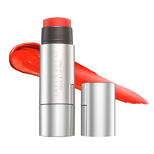Urban Decay Stay Naked Face & Lip Tint, Bang - Sunny Red-Orange - Long-Lasting, Blendable, Sheer Color for Lips & Cheekbones - With Kombucha Filtrate & Marula Oil