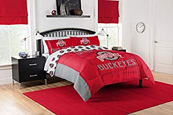 Ohio State Buckeyes Full/Queen Comforter & Shams 3 Piece Bedding New! + Homemade Wax Melts