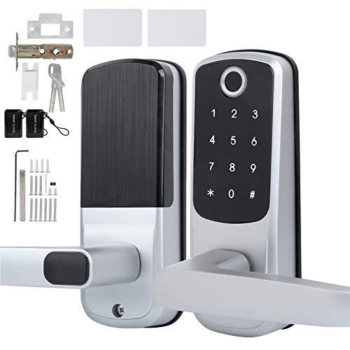Cerradura de puerta sin llave, cerradura con contraseña de huella digital Utilice Sensor de cable semiconductor Conectar al teléfono móvil a través de WiFi Soporte para función para puerta