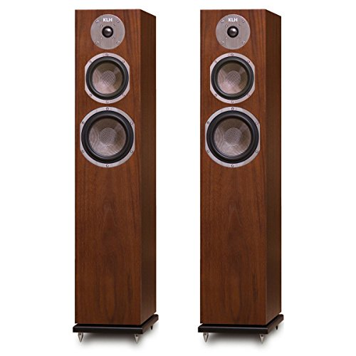 KLH Quincy Floorstanding Speakers - Pair (Walnut)