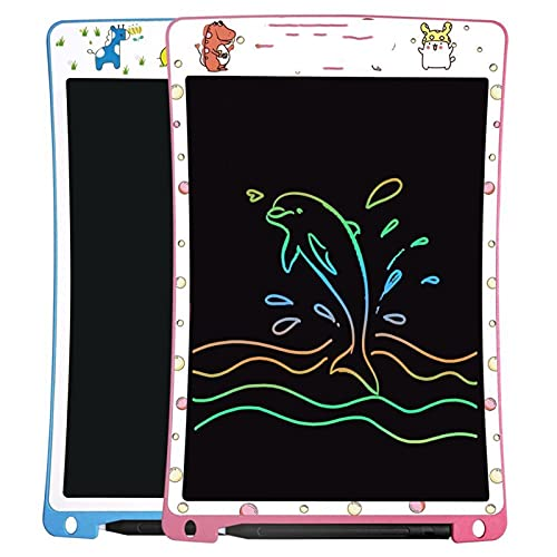 WHBGKJ Drawing board 10 Inch LCD Writing Tablet Rechargeable Digital Electronic Handwriting Pad Graphic Drawing Boards with Stylus for Kids (Color : Blue)