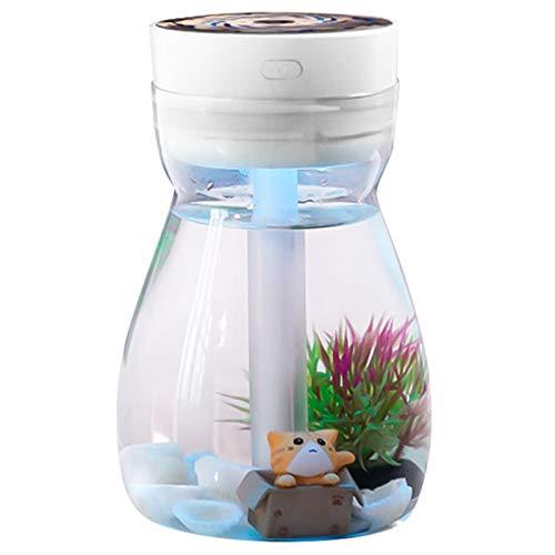 VANOLU Lindo humidificador de niebla fresca oficina dormitorio purificador de aire usb carga kawaii humidificador de aire con luz led botella hidratante de aire (blanco)