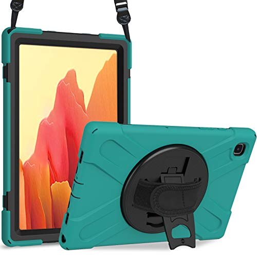"""ProCase Heavy Duty Tough Kids Case for Samsung Galaxy Tab A7 10.4"""" 2020 (SM-T500 / T505 / T507), Shockproof Rugged Armour Case Cover with Handle Shoulder Strap Kickstand –Teal"""