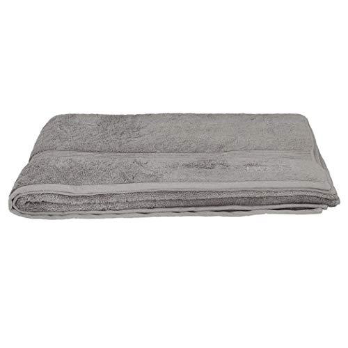 Boss Hugo - Toalla de baño (100 x 150 cm), color gris