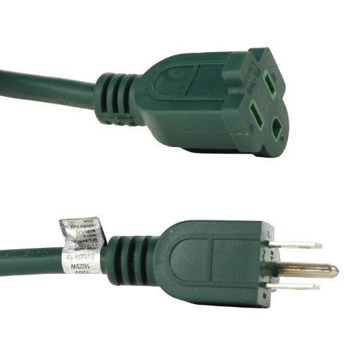 Sunlite 04201-SU EX40/16/3/HD/G Outdoor Heavy Duty 40-Feet Extension Cord, Green