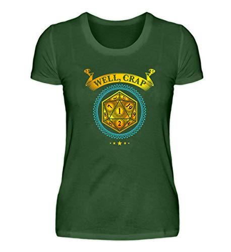 Maglietta da donna di alta qualità per tablet e giochi di ruolo verde scuro S
