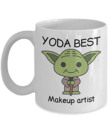 Yoda Best Makeup Artist Profession mug - Novelty mug Mugs for Birthday Present, Anniversary, Valentines, Special Occasion, Christmas - 11oz Funny Coffee Mug