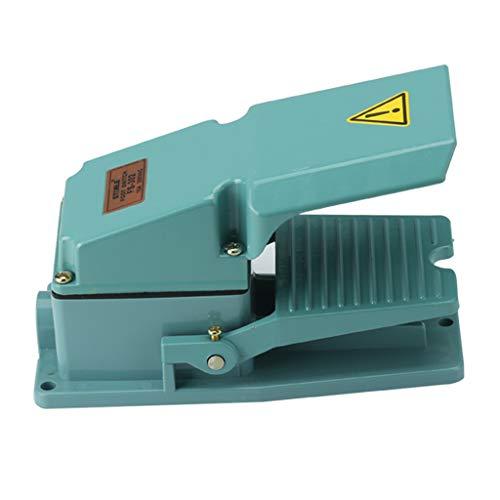 yotijar Interruptor de Pie Momentáneo Turquesa AC 250V 15A 1NO 1NC para CNC