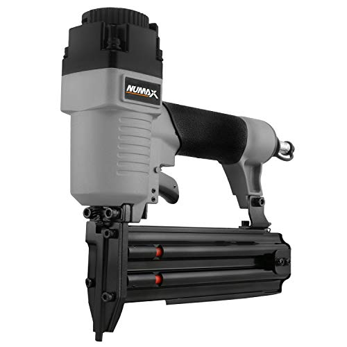 "NuMax SBR50 Pneumatic 18-Gauge 2"" Brad Nailer Ergonomic and Lightweight Straight Brad Gun with Reload Indicator for..."