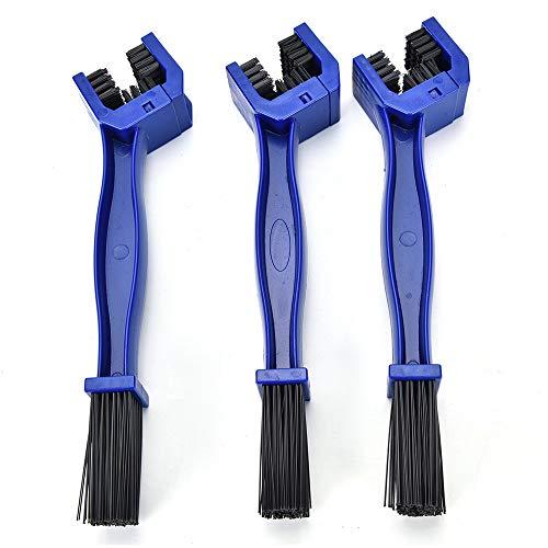 LZC Fahrradketten-Reinigungsbürstenwerkzeug, 3 Stück langlebige Motorrad-Fahrradkettenbürste für Zahnradketten Wartung Reinigungsbürstenreiniger-Werkzeuge