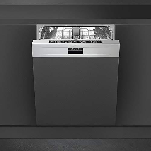Smeg PL3326TX Semi intégré 13places A+++ lave-vaisselle - Lave-vaisselles (Semi intégré, Taille maximum (60 cm), Acier inoxydable, Tactil, LED, panier)