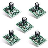 ICQUANZX 5Pcs XPT8871 5V 5W 1A Placa de Amplificador de Audio Digital Mono de un Solo Canal - Arduino Compatible SCM y Kits de Bricolaje Junta de módulos - 5 x Placa de Amplificador