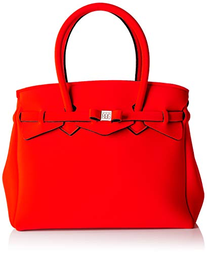 Save My Bag Damen Miss Plus schultertasche, Rot (RED COAT REC), 34x29x18 cm