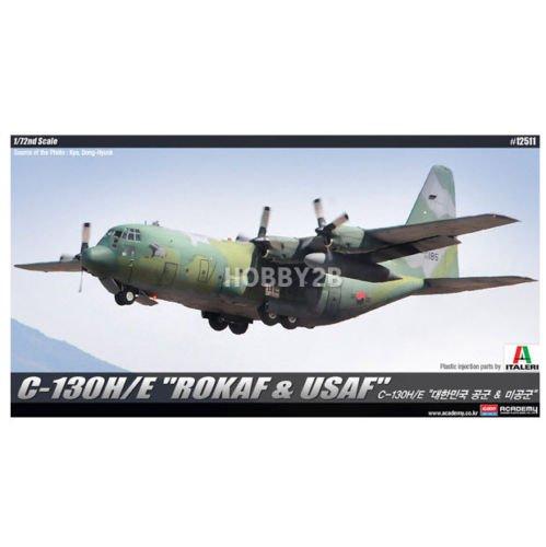 Academy 1/72 C-130H/E ROKAF & USAF Aircraft Plastic Model Kit #12511
