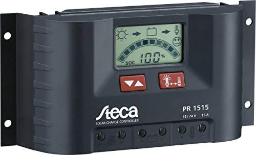 Steca PR1515 1515 Solarladeregler mit LCD Display und Lastausgang für 12 V Verbraucher bis 15 A