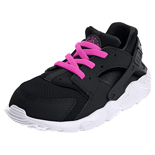 Nike Nike Unisex Baby Huarache Run (TD) Sneaker, Schwarz, 18.5 EU