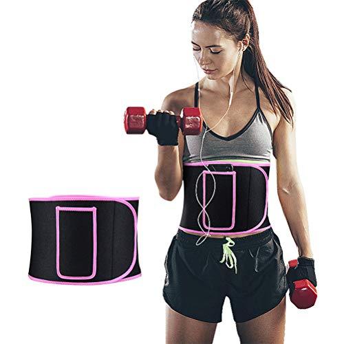Mowtom Bauchweggürtel, Taillen Trimmer, Einstellbar Schwitzen Fitness - Gürtel zur Beschleunigt Gewichtsverlust & Fettverbrennung & Sauna Neopren mit Handytasche