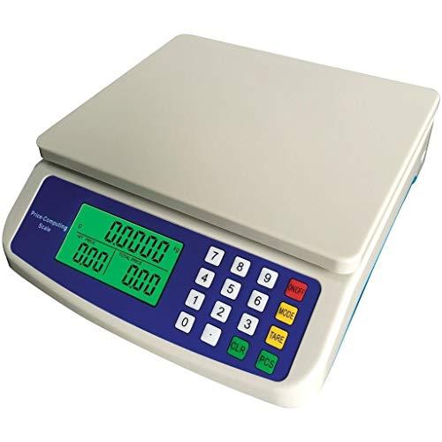 ZCXBHD Balanzas Digitales de Cocina de 30 kg / 1 g, balanzas Digitales LCD de precisión Computación electrónica de Precios Balanza Comercial (Size : 30kg/1g)