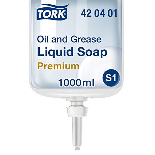 Tork fettlösende Flüssigseife - 420401 - Flüssige Seife für S1/S11 Spender-Systeme, entfernt Öle und Schmutz - Premium-Qualität, parfümfrei, 1 x 1000 ml