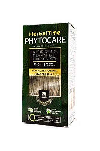 Permanenter und pflegender Haarfarbstoff ohne Ammoniak, ohne PPD, ohne SLS, ohne Parabene Farbe 9N Hellblond