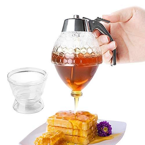 Jarra dispensadora de goteo de zumo y jarro de miel, accesorio de cocina, recipiente de almacenamiento para botellas, soporte para botella