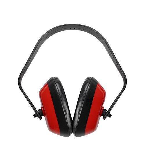 DMMW Schalldichte Ohrenschützer Ohrenschützer Gehörschutz Geräuschminderung Sound Cancelling Hearing Einstellbar Verstellbares Stirnband (Color : Red, Size : Free Size)