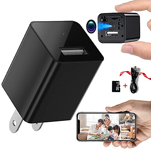 Hidden Spy Camera Charger Wireless Hidden Cam, 1080P HD Mini Spy Camera USB Charger Camera, 32GB Hidden Security Cam Camera Recorder Motion Activated Nanny Surveillance with Video Recording
