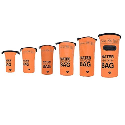 DonDon wasserdichter Outdoor Dry Bag Beutel Sack Trockentasche mit Riemen Schutz vor Wasser Trockenbeutel für Ihre Wertsachen und Gegenstände orange 15 Liter