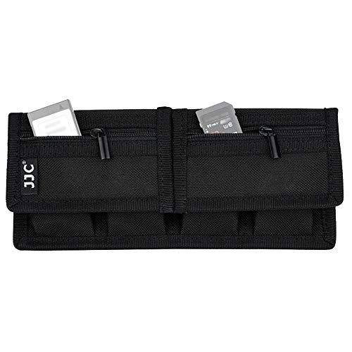 JJC DSLR Akku Batterie Tragetasche Tasche (4 Tasche) Speicherkarten Beutel für Canon EOS R 5D Mark IV 6D 7D 90D 80D Nikon Z6 Z7 D850 D800 D750 D7500 Sony A9 II A7 II III A7RIV A6600 A6100 Batterien