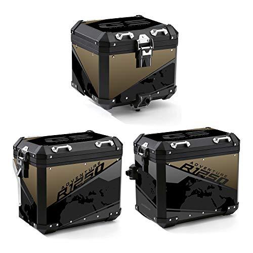 Kit 2 PROTECCIÓN Adhesiva Bolsas DE Suitcase ALU 2° Modello R 1250 GS Adventure VA2-R1250GSADV (Exclusive Black)