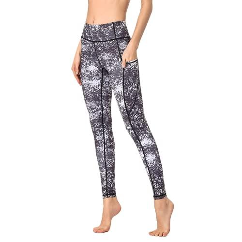 QTJY Ink Wind Pantalones de Yoga para Mujer, Cintura Alta, Levantamiento de Cadera, Deportes, Fitness, Yoga, Pantalones, Pantalones Deportivos para Correr al Aire Libre, B L