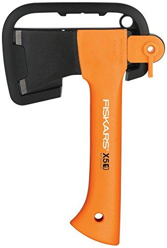Fiskars Ascia da Taglio X5, Lunghezza: 23 cm, XXS, Nero/Arancione, 1015617